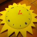 Csináld magad: napocska óra gyermekszobába