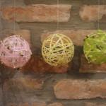 Csináld magad: gömb dekoráció Húsvétra