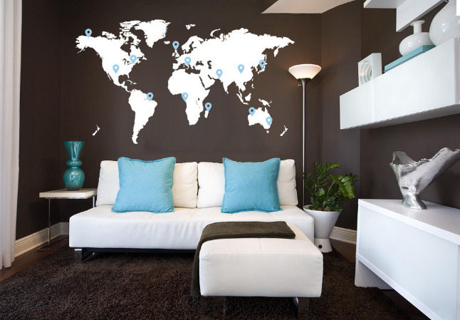 Brown-World-Map-Bedroom-Wall-Decal