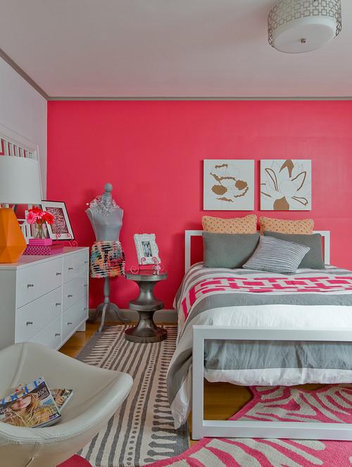 Eclectic-design-for-teenage-girl-bedroom