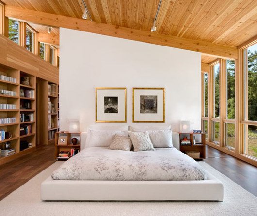 Minimalist wooden residence architecture design bedroom ideas