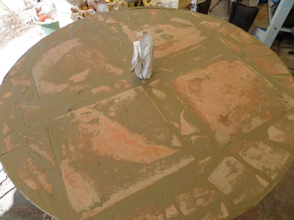 asztal mozaikolása