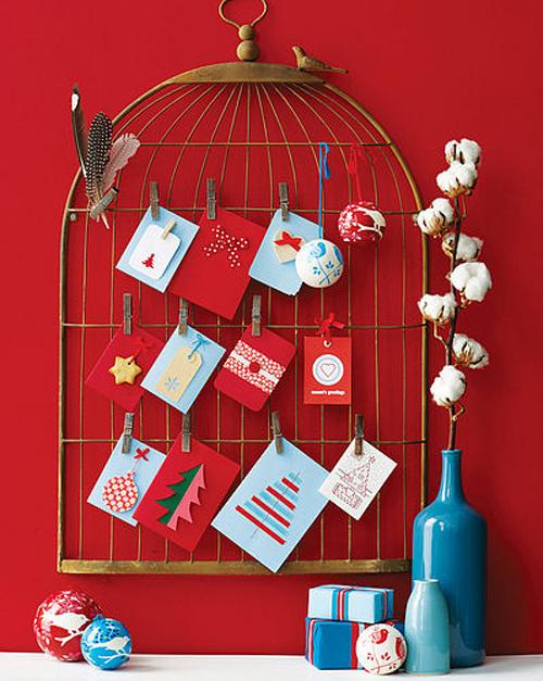 birdcage-Christmas-card-display