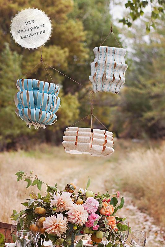diy-wallpaper-lanterns