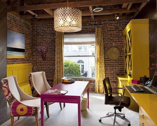 yellow-color-feng-shui-home-office-ideas-furniture